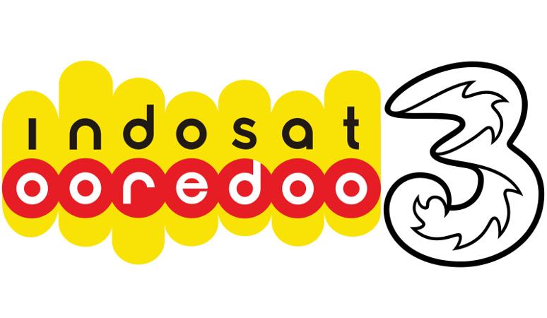 Logo Indosat dan Tri (Istimewa)